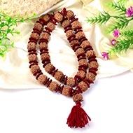 6 Mukhi Mangal Kantha with Red Sandalwood beads - Design II