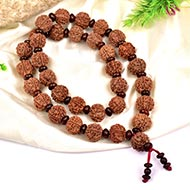 6 Mukhi Mangal Kantha with Red Sandalwood beads