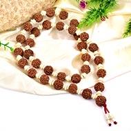 6 Mukhi Mangal Mala - 32+1 beads - Design III