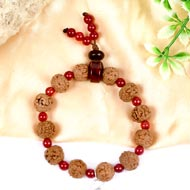 6 mukhi Mars bracelet from Java with Red Agate beads