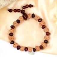 6 mukhi Mars bracelet from Java with Red Sandalwood beads
