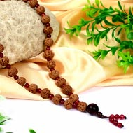 6 mukhi Mars Mala from Java with Red Agate beads