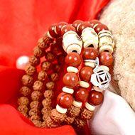 6 Mukhi Rudraksha and Jasper Bracelet - II (Root)