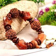 6 Mukhi and Red Jade gemstone bracelet (Root)