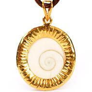 Gomati Chakra locket in pure Gold