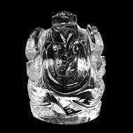Ganesh Idol in pure quartz - 34 gms