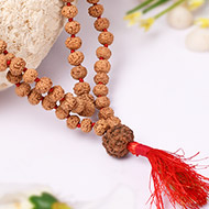 7 mukhi Mahalaxmi mala - 6 mm - Chikna beads