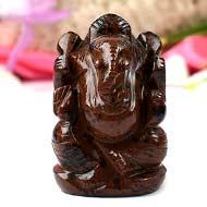 Mahogany obsidian Ganesha - 99 gms