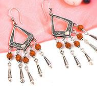 Rudraksha earring - Design IV