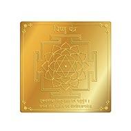 Vishnu Yantra in Gold Polish - 3 inches