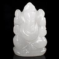 White Agate Ganesha - 91 gms
