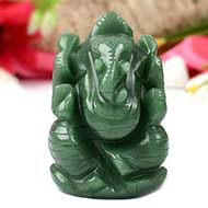 Ganesha in Columbian Green Jade - 119 gms