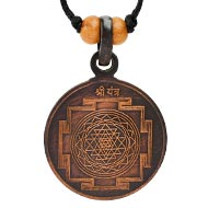 Shree Yantra Copper Locket in Antique finish
