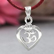 Om Locket in Pure Silver - Design XVII