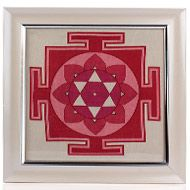 Mahalaxmi Yantra on silk with frame