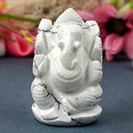 Howlite Ganesha - 127 gms