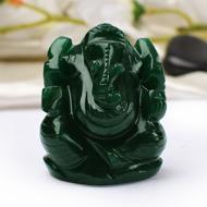 Green Jade Ganesha - 84 gms