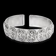 Ganesh Bracelet in pure silver