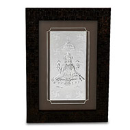 Goddess Laxmi in Silver with frame