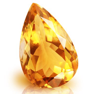 Yellow Citrine - 5 to 6 carats - Pear