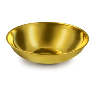 Round puja bowl in Brass - II