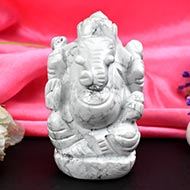 Howlite Ganesha - Right Trunk - 237 gms