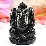 Black Agate Ganesha - 142 gms