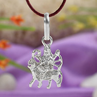 Durga Locket in pure silver - Design V