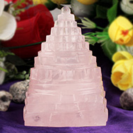 Rose Quartz Shree Yantra - 297 gms