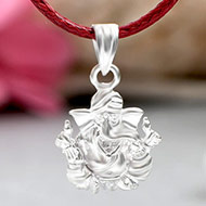 Ganesh Locket in Pure Silver - Design LV