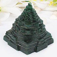 Green Jade shree Yantra - 350 gms