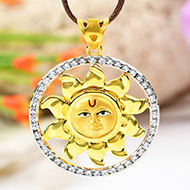 Surya Locket in Pure Gold