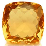 Yellow Citrine - 12.75 carats - Square Cushion