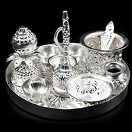 Royal Puja Thali in German Silver