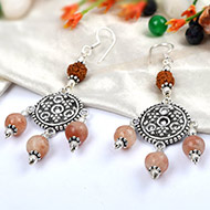 Rudraksha Sunstone Earrings - II