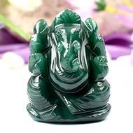 Ganesha in Austrailian Green Jade - 93 gms
