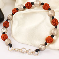 Rudraksha and Parad Bracelet in thread