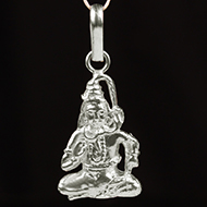 Shiva Locket in Pure Silver - II