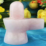 Rose Quartz Shivling - 134 gms