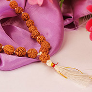 Rudraksha mala in thread - 10 mm