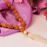 Rudraksha mala in thread - 10 mm