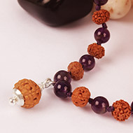 7 mukhi with Amethyst mala