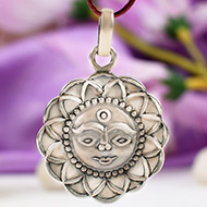 Surya Locket in pure silver - Design VIII