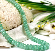 Green Aventurine Necklace - Elliptical Beads