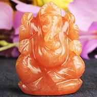 Red Jade Ganesha - 57 gms