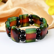 Green-Red Agate bracelet