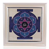 Katyayni Yantra on silk with frame