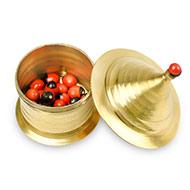 Red Chirmi beads box