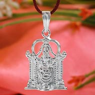 Tirupati Balaji Locket in Pure Silver