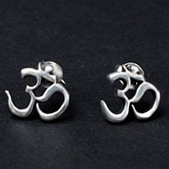 Om Earrings in pure silver - 1.46 gms